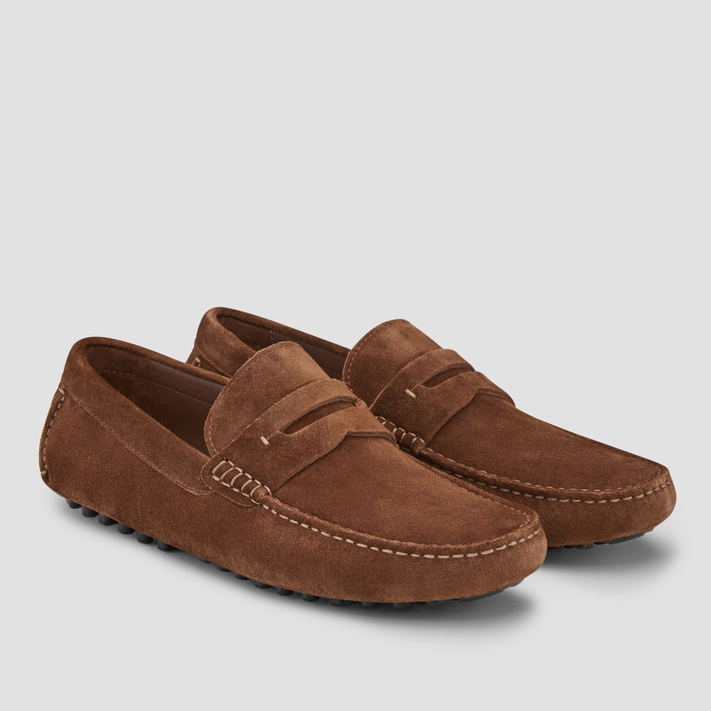 Luciano Tobacco Driving Shoes