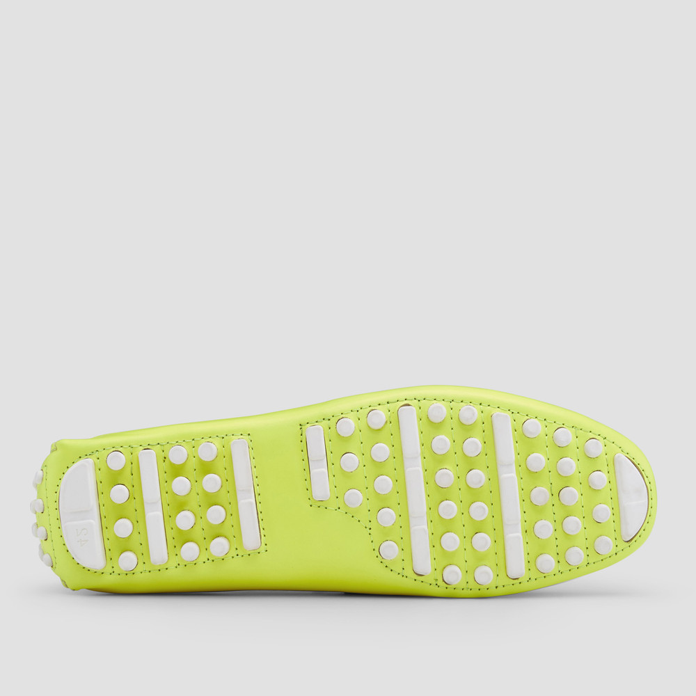 Luciano Yellow Driving Shoes
