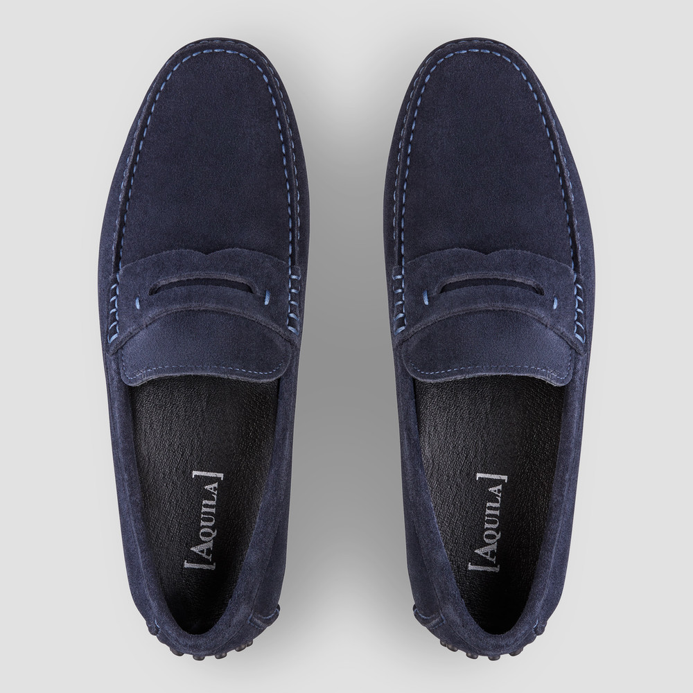Luciano Navy Driving Shoes