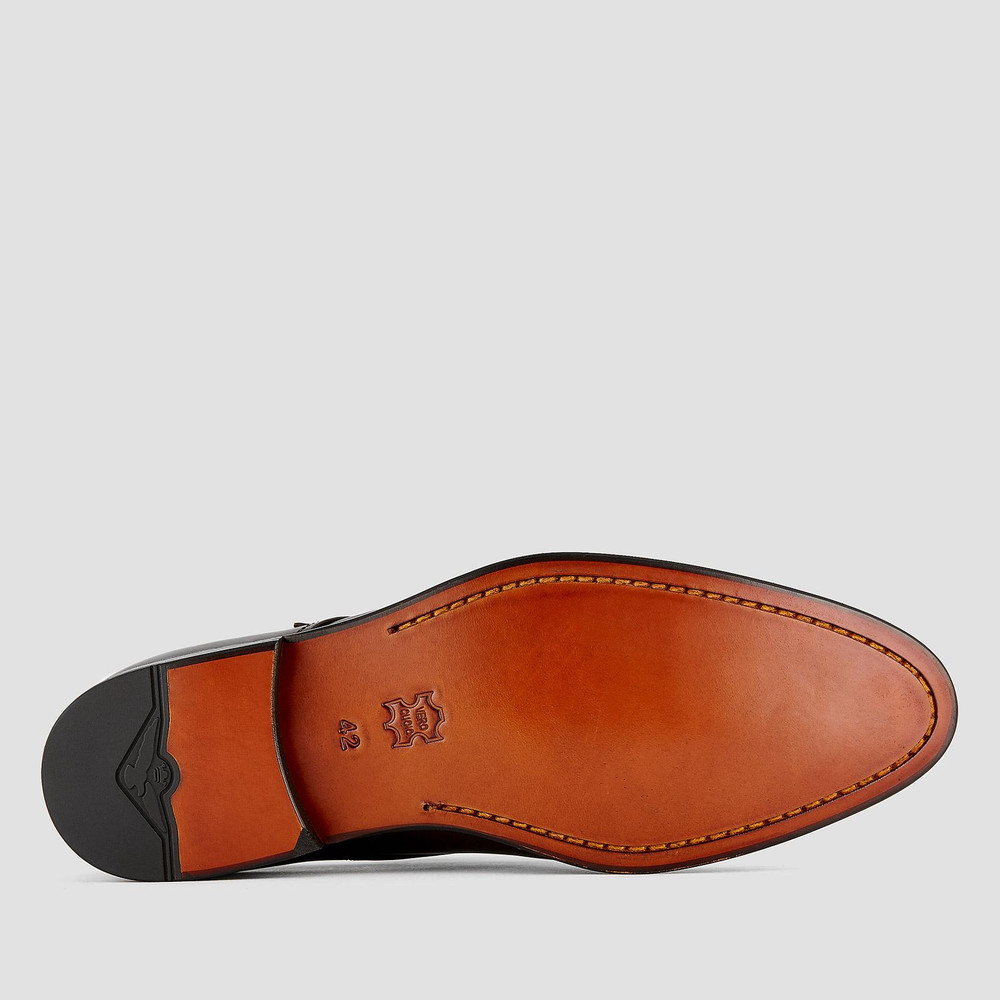 Hinkley Brown Monk Strap Shoes