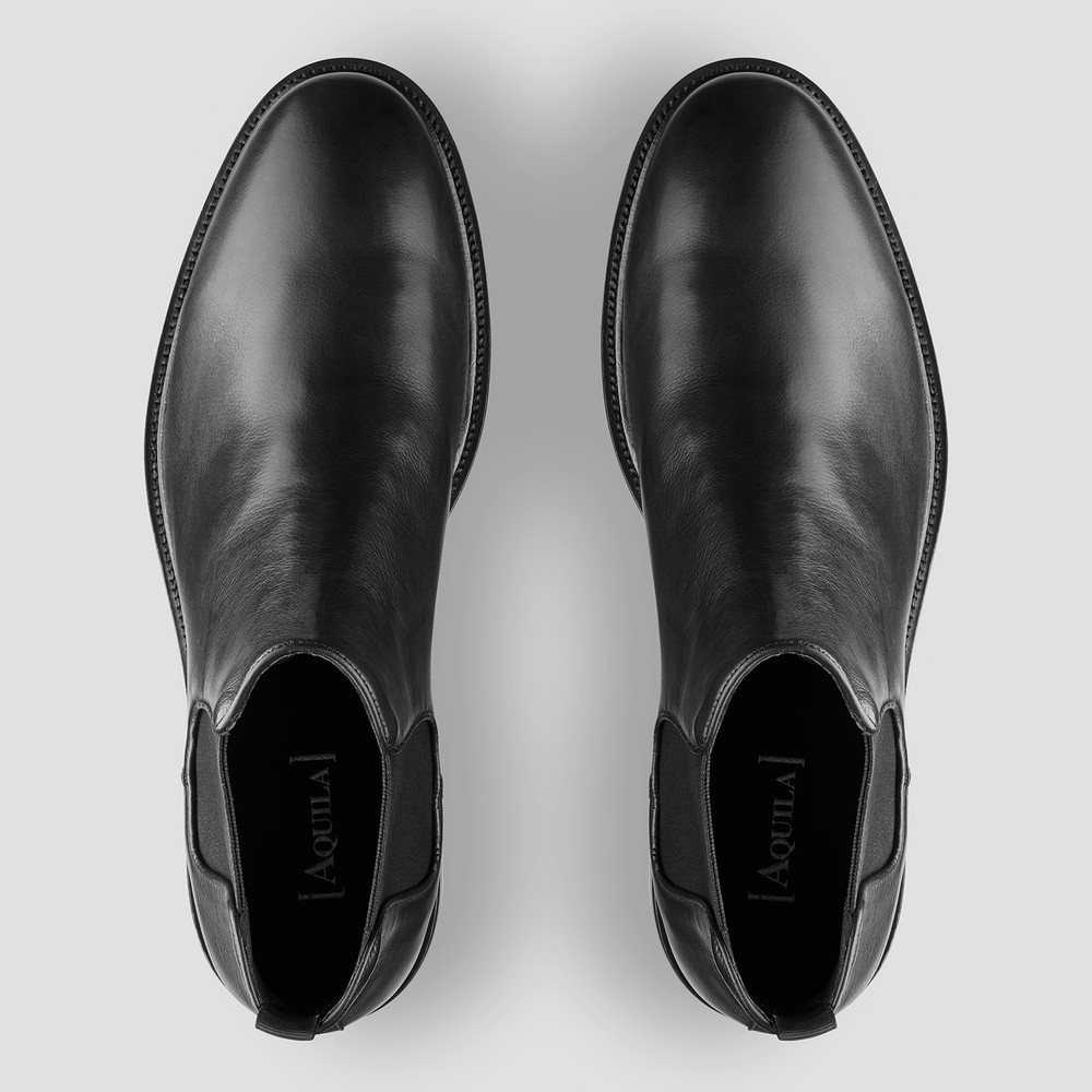 Pellegrini Black Chelsea Boots