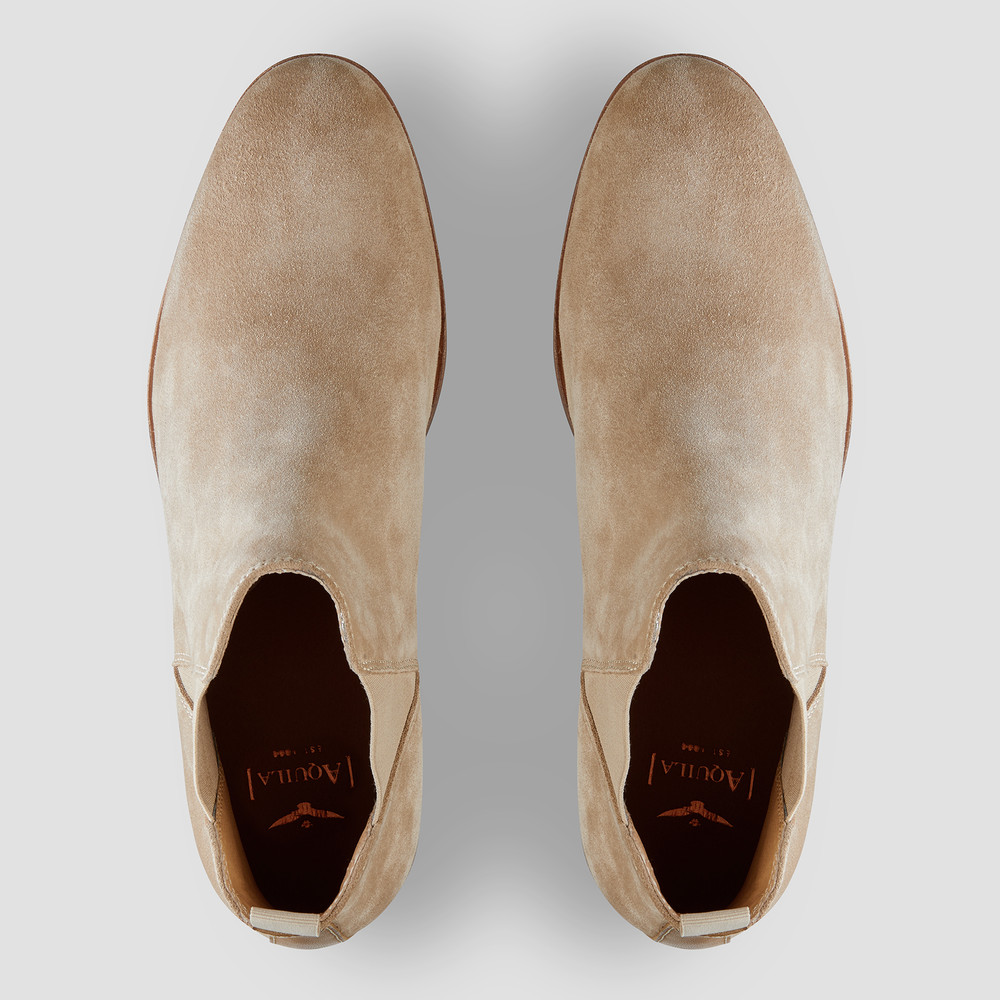 Derossi Camel Chelsea Boots