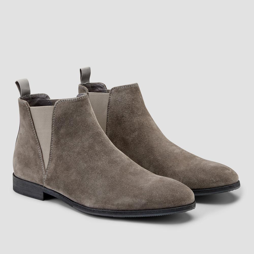 Derossi Grey Chelsea Boots