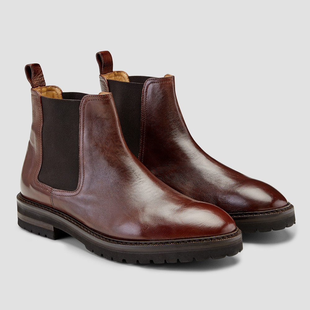 Kean Chocolate Chelsea Boots