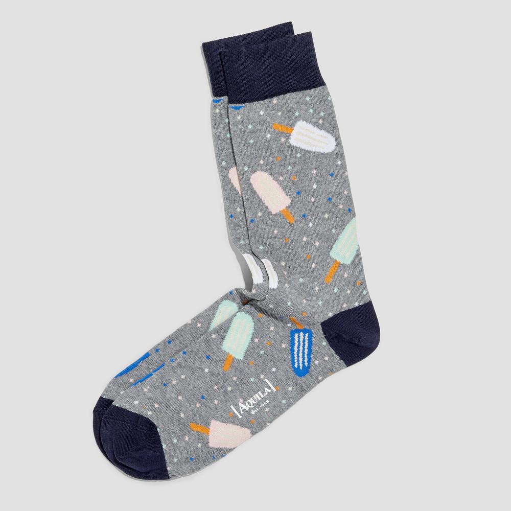 Louie Steel Blue Socks