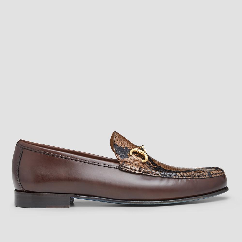 Maddin Snake Print Loafers