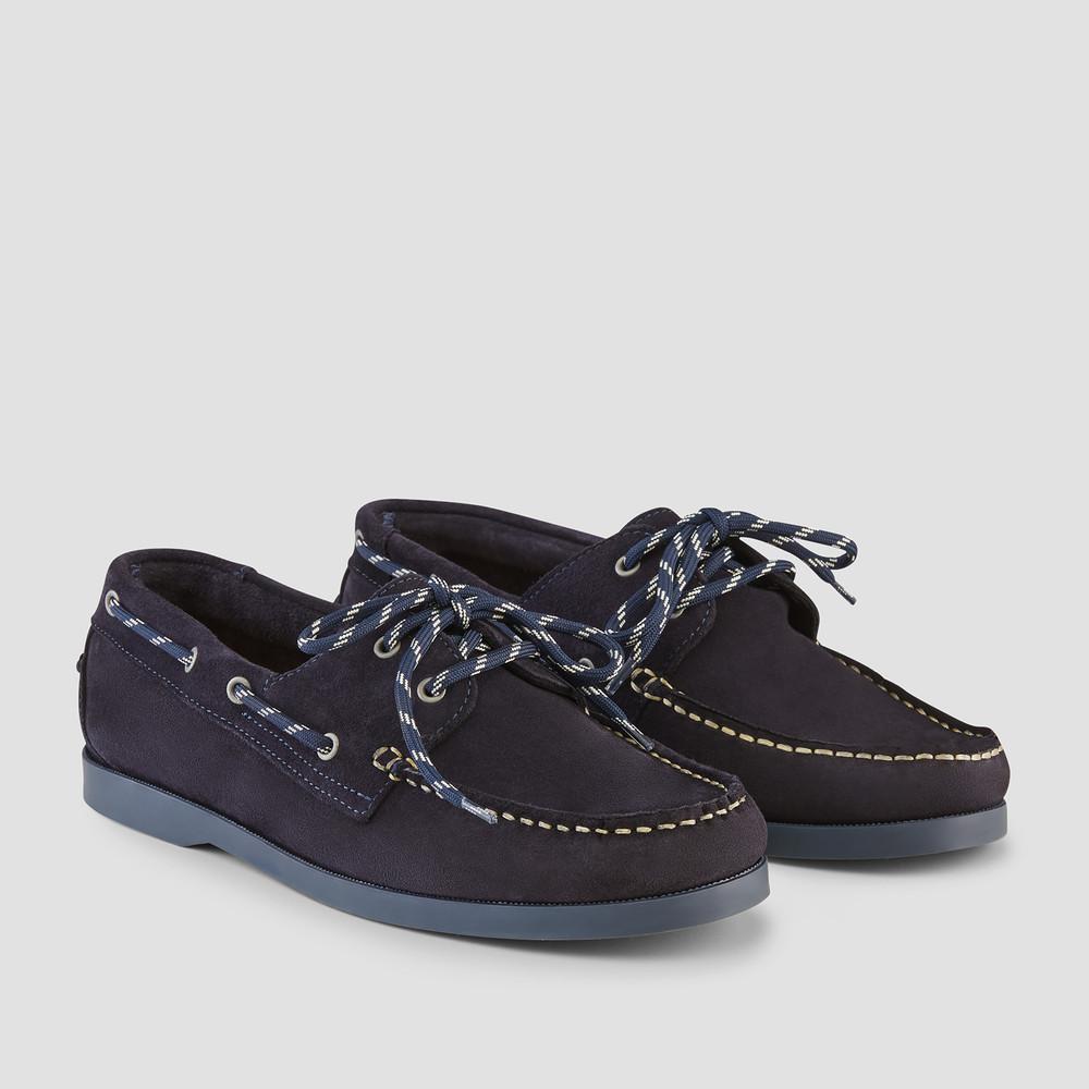 Berlin Navy Boat Shoes