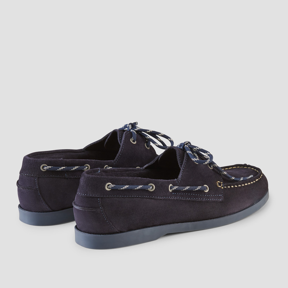 Berlin Navy Boat Shoes