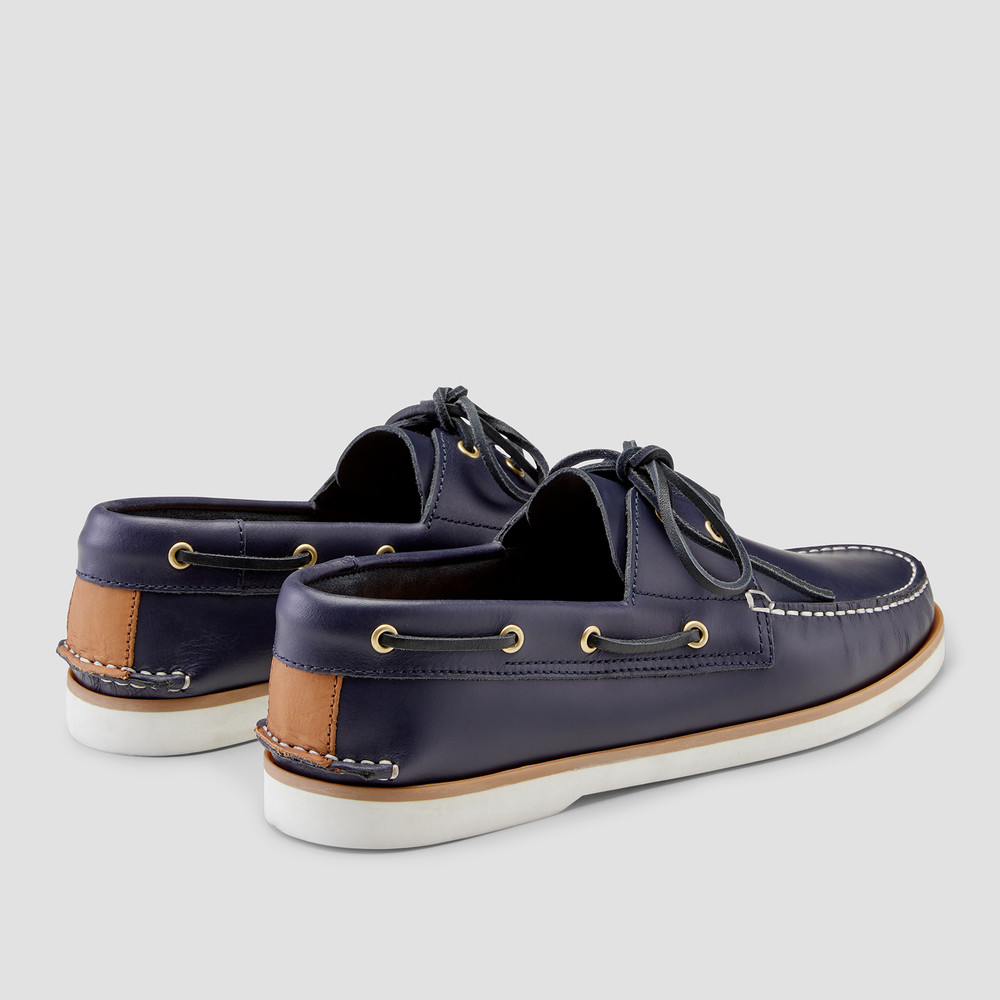 Port Navy Boat Shoes