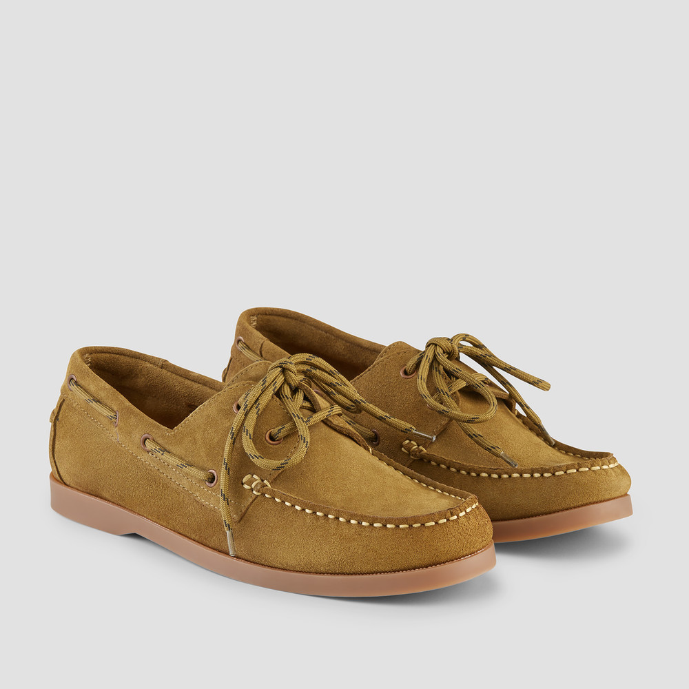 Berlin Olive Boat Shoes