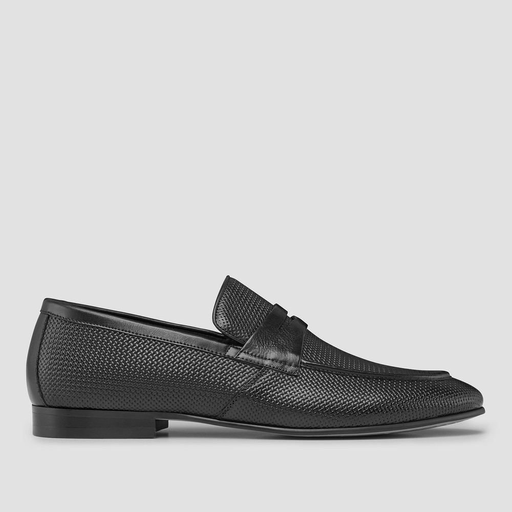Cavarra Black Penny Loafers