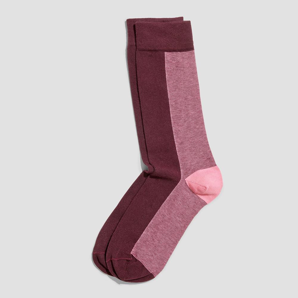 Joel Burgundy/ Pink Socks