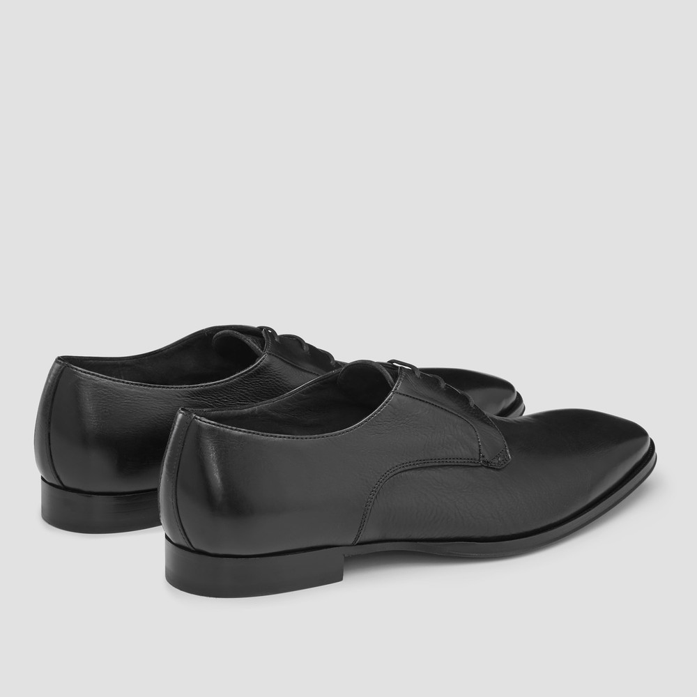 Hemsworth Black Derby Shoes