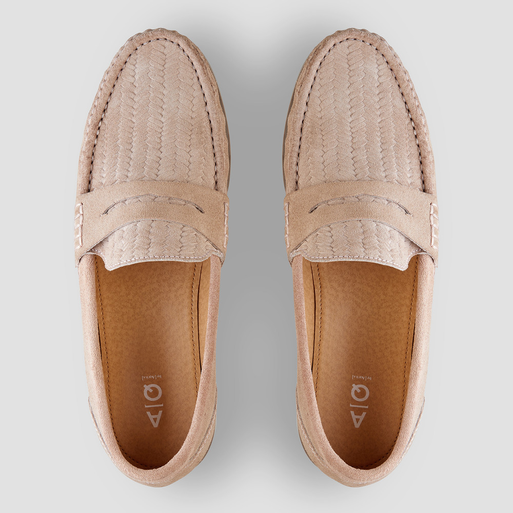 Teddy Dusty Pink Penny Loafers