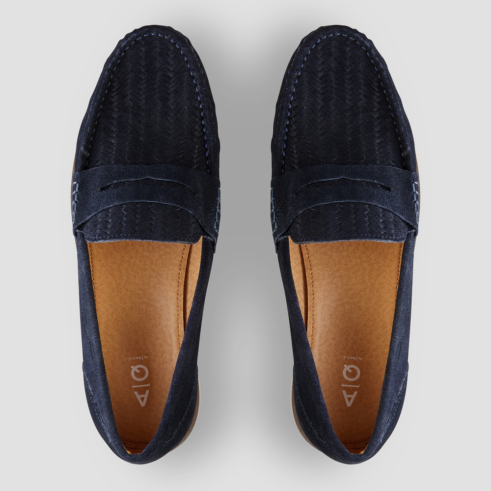 Teddy Navy Penny Loafers