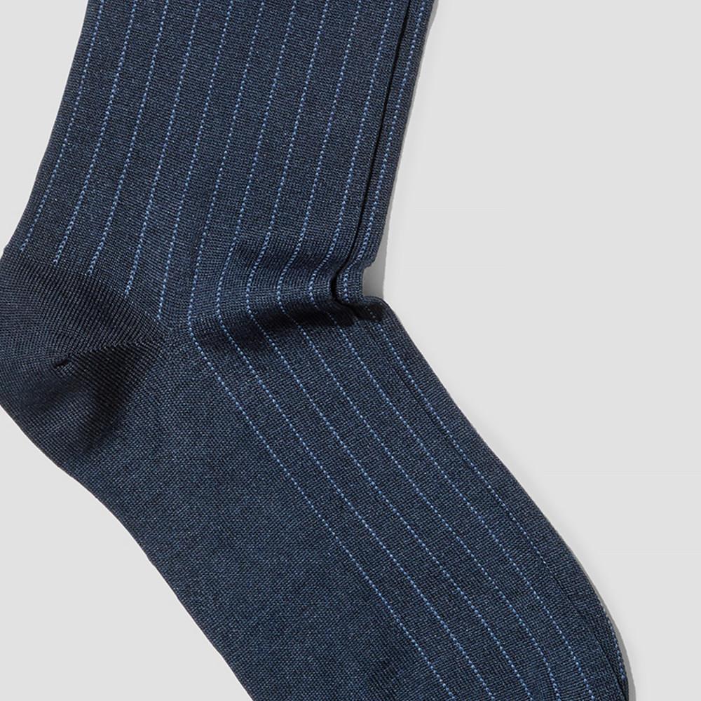 Heath Navy Socks