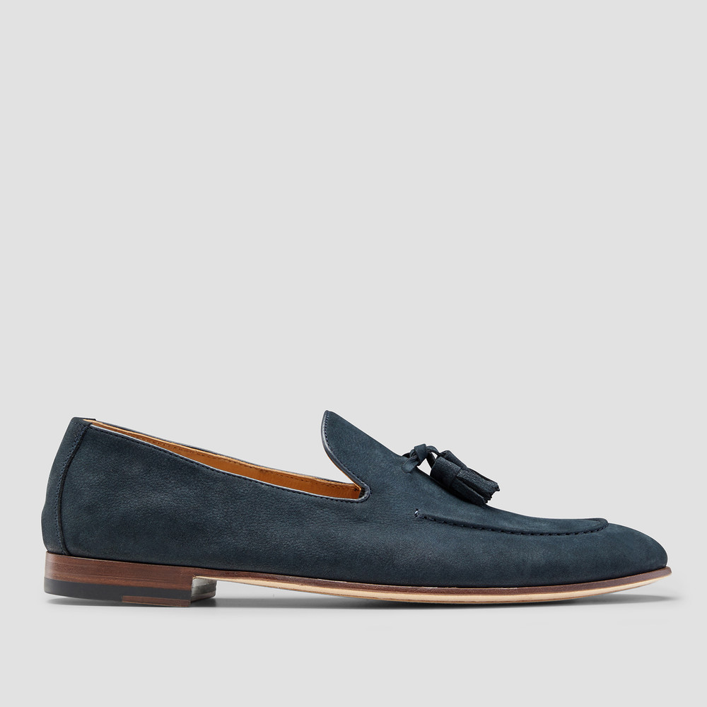 Roberto Navy Loafers
