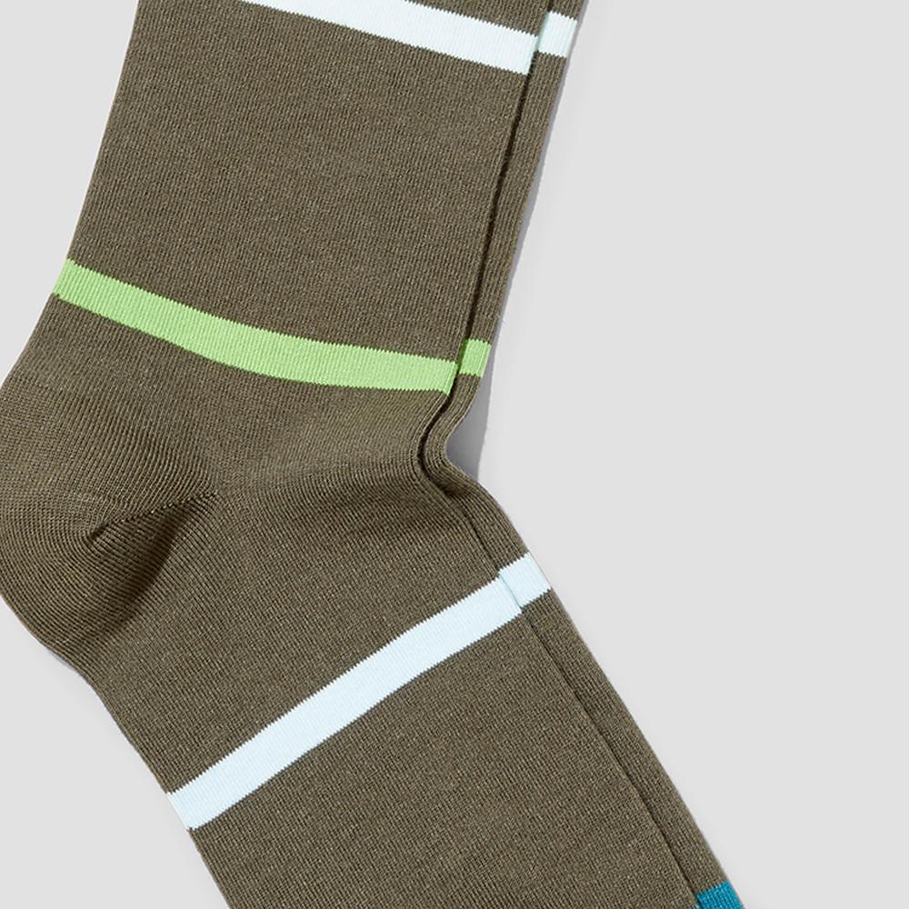 Mitch Forest Stripe Socks