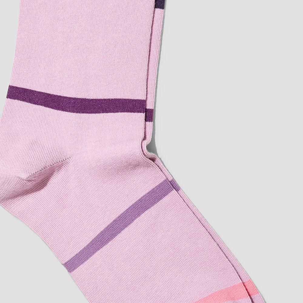 Mitch Lilac Stripe Socks