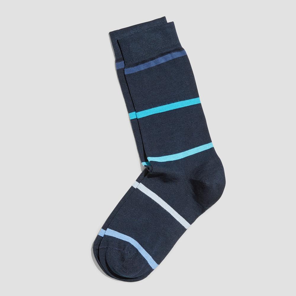 Mitch Navy Stripe Socks