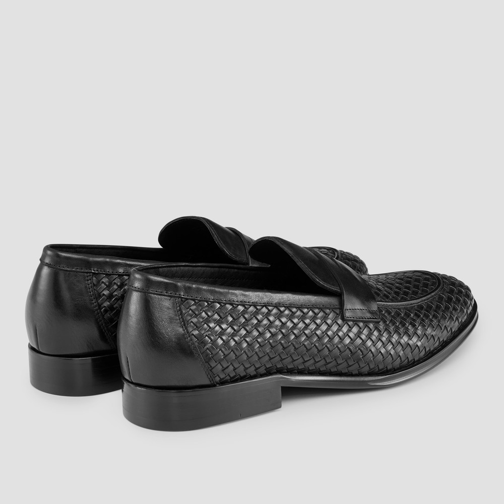 Giancarlo Black Penny Loafers