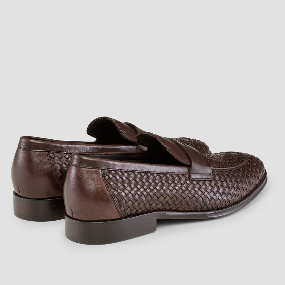Giancarlo Brown Penny Loafers