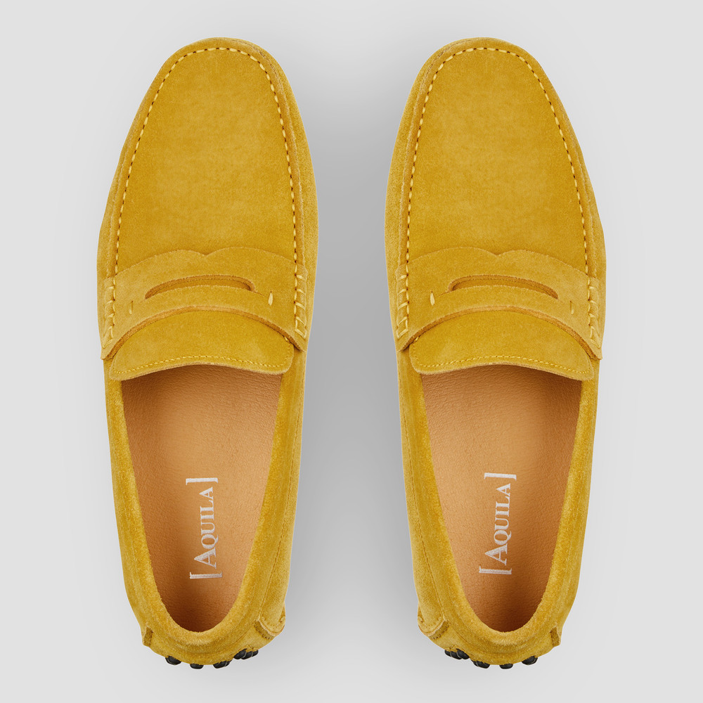 Luciano Mustard Driving Shoes
