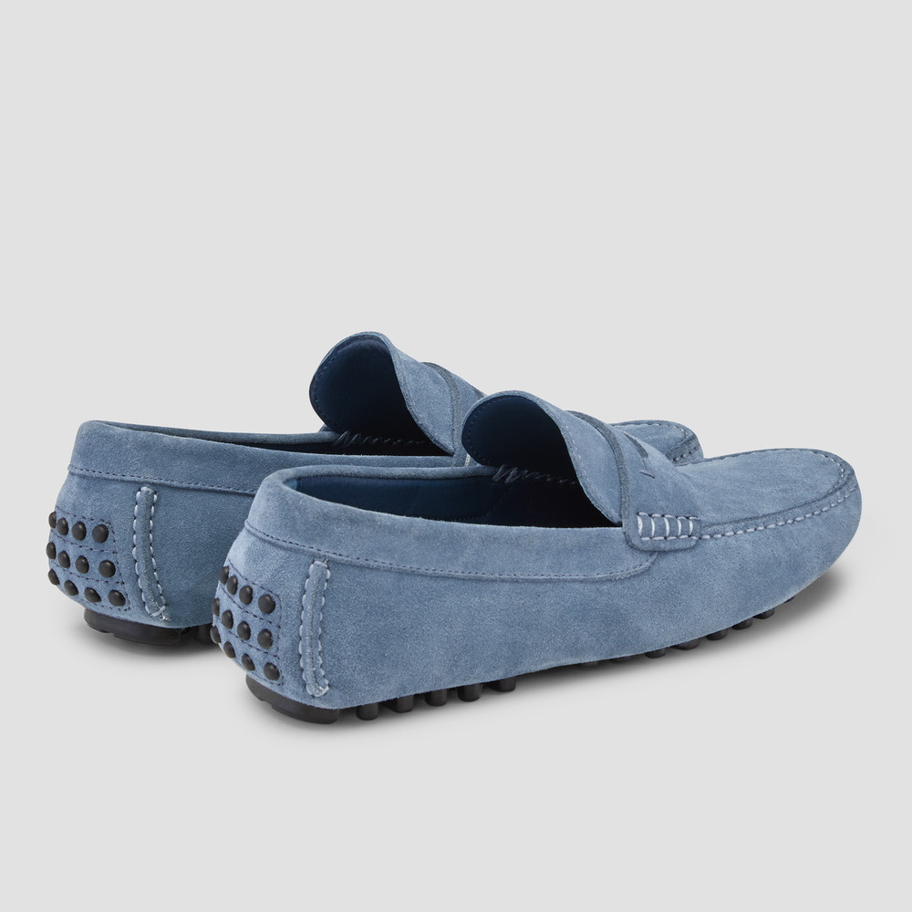 Luciano Blue Driving Shoes