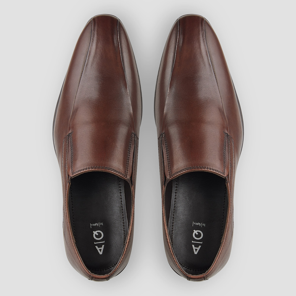 Bana Brown Slip On Shoes