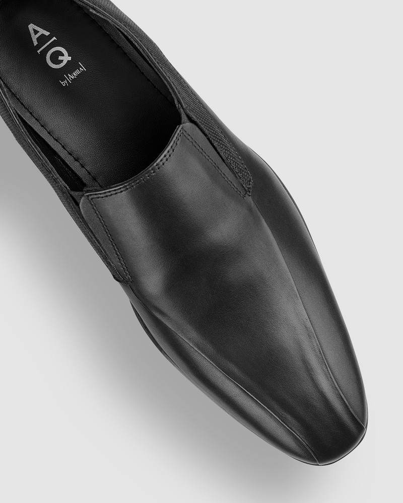 Bana Black Slip On Shoes