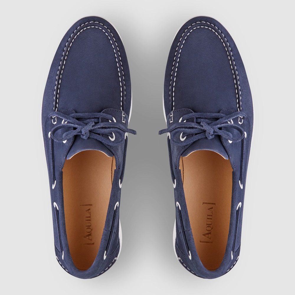 Marseille Navy Boat Shoes