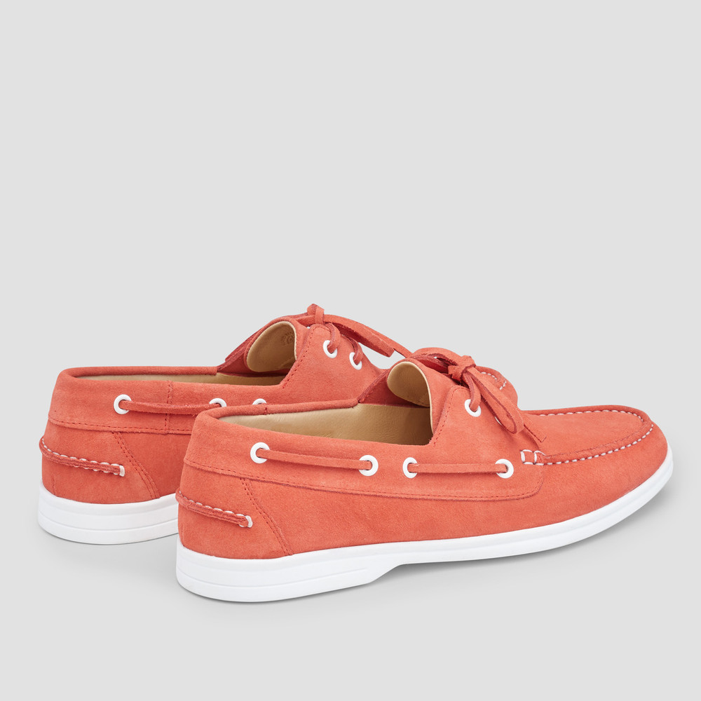 Marseille Coral Boat Shoes