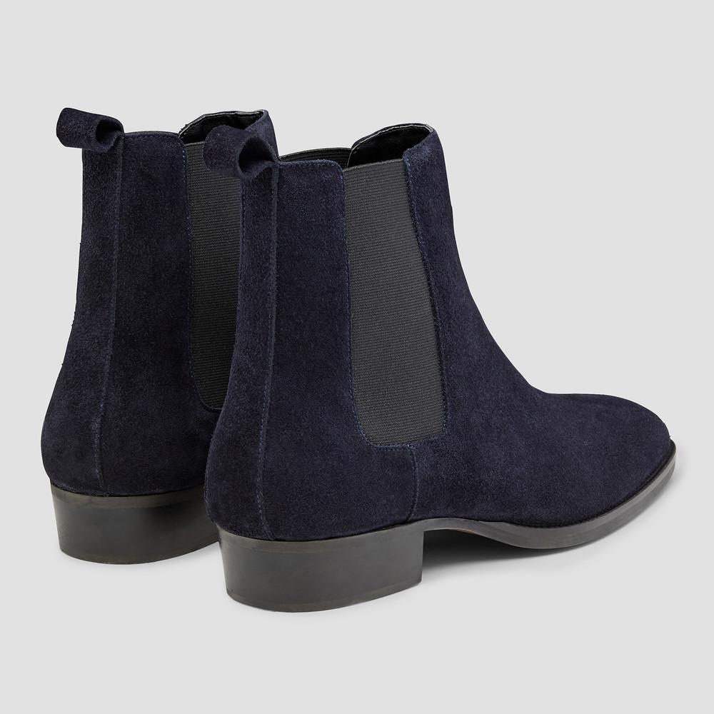 Eastwood Navy Chelsea Boots - Aquila