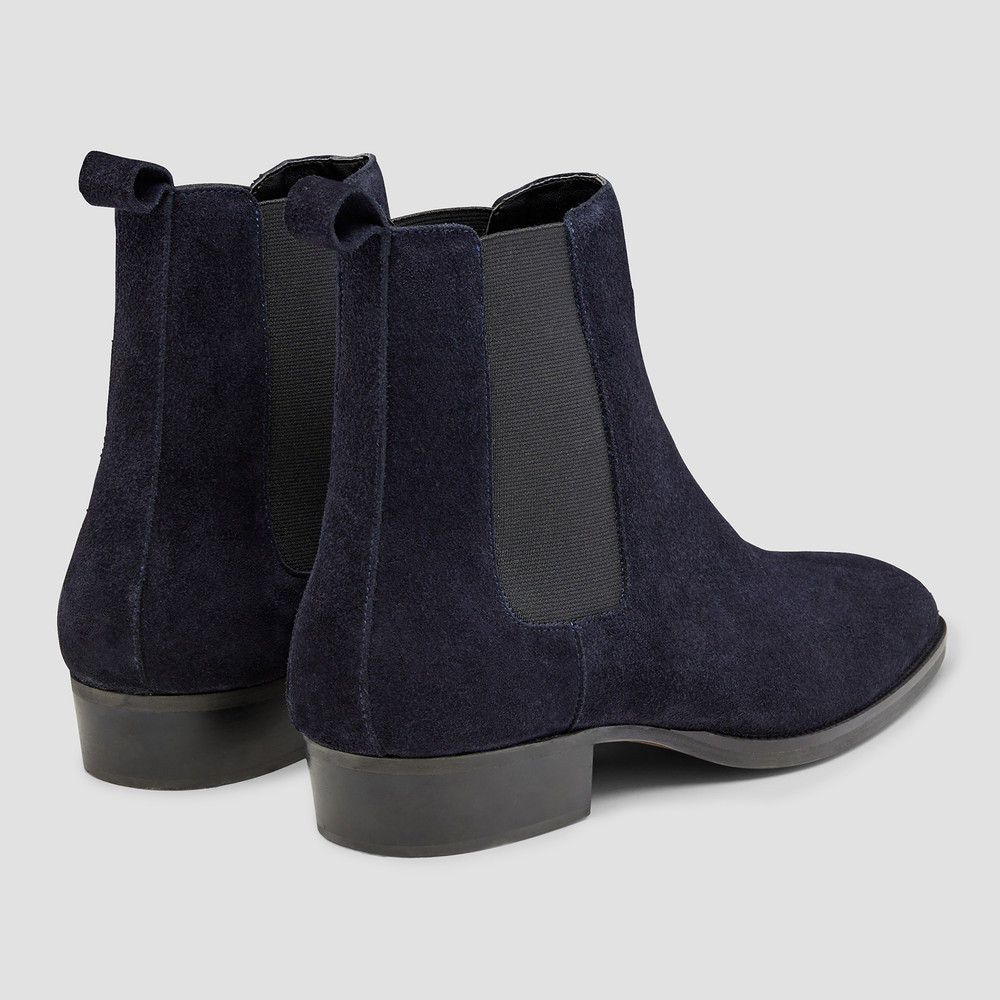 Eastwood Navy Chelsea Boots