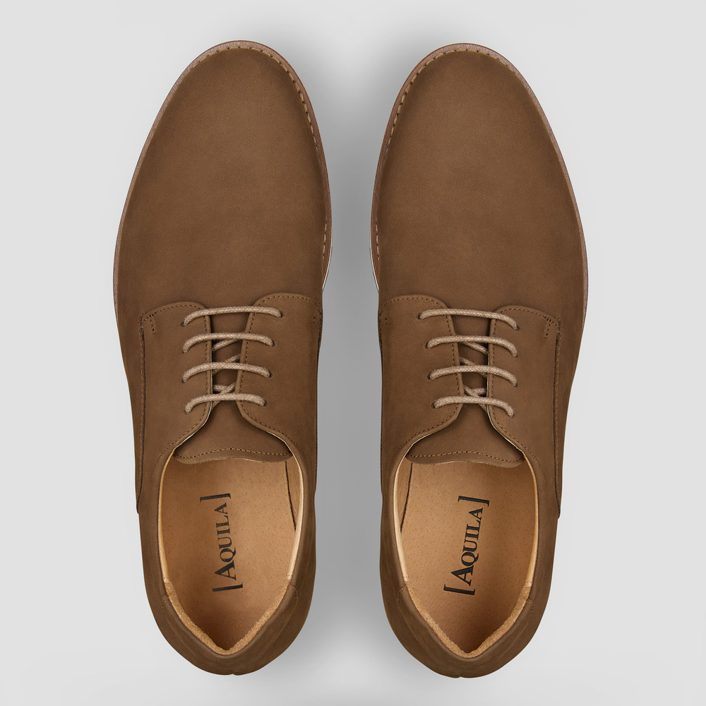 Wilburn Taupe Lace Up Shoes