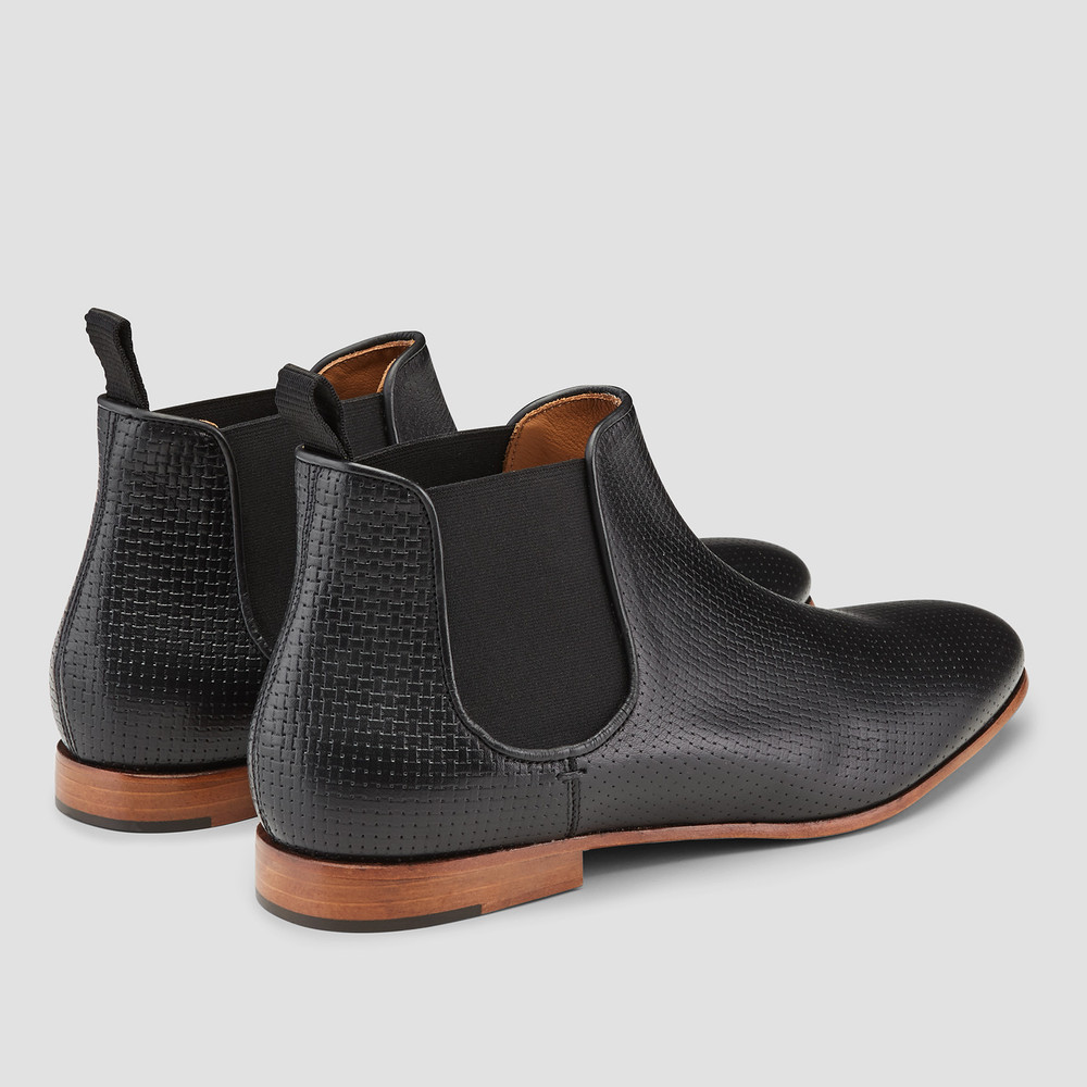 Hutton Black Chelsea Boots