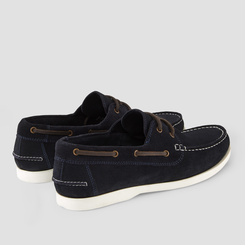 Gunston Navy Boat Shoes