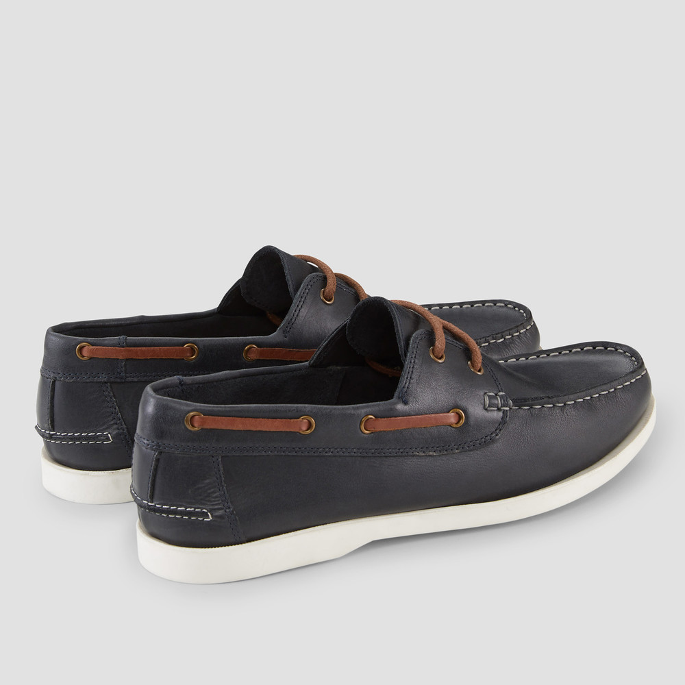 Cousins Navy Boat Shoes