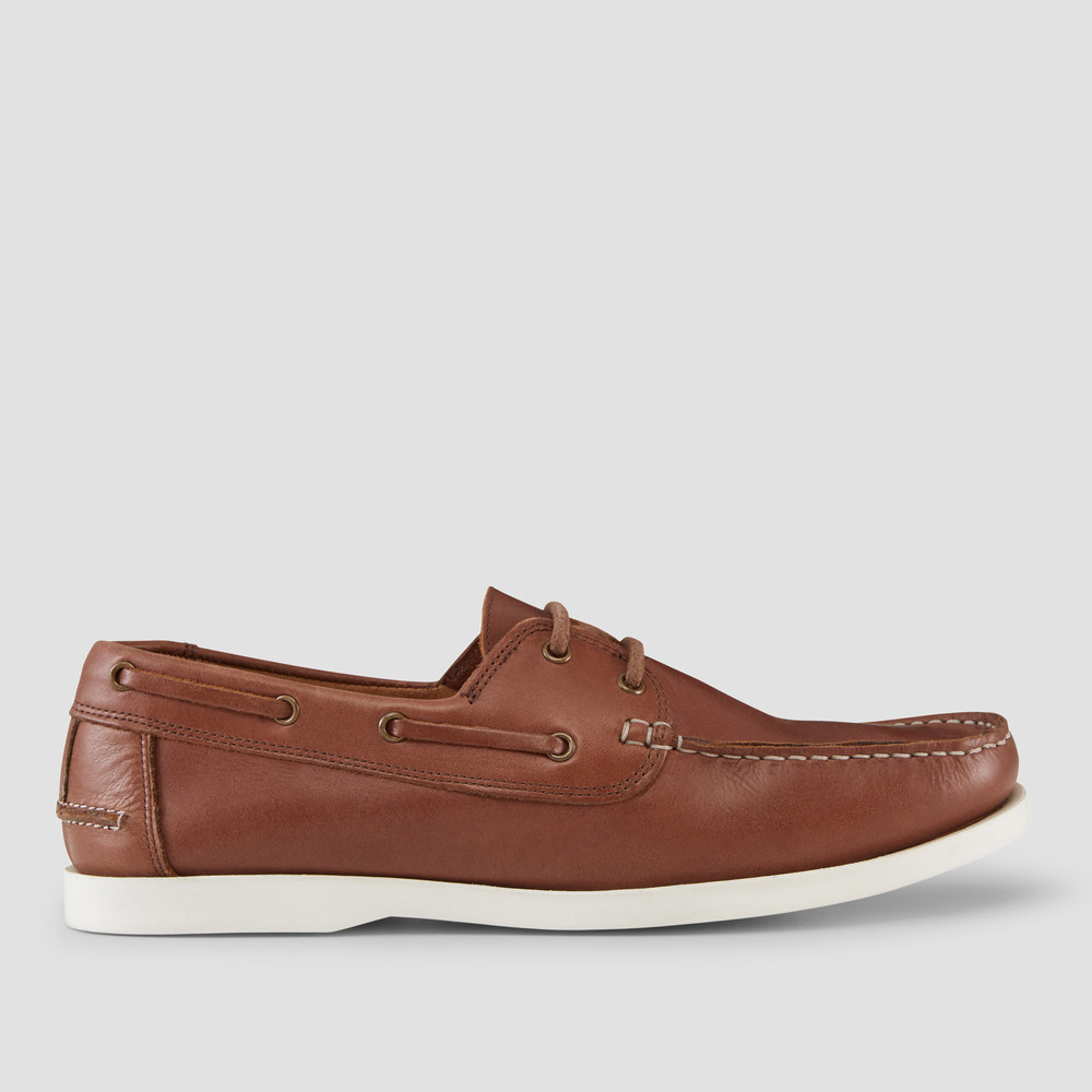 Cousins Tan Boat Shoes