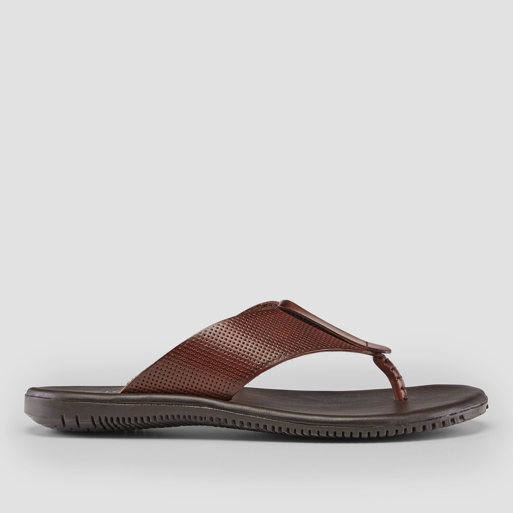 Hines Cognac Leather Thongs
