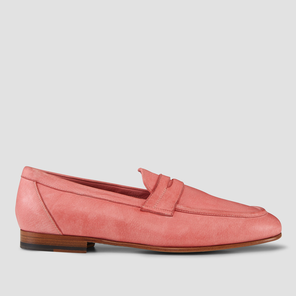 Lucio Pink Penny Loafers