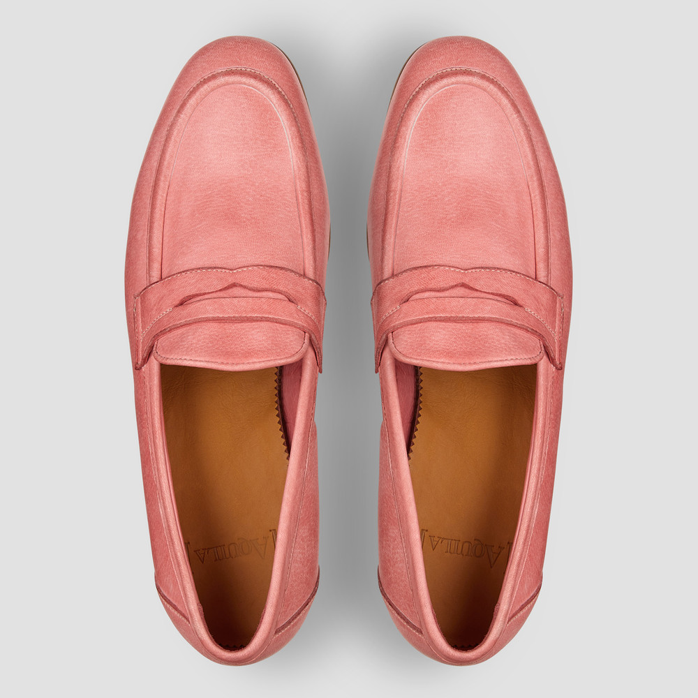 Lucio Pink Penny Loafers - Aquila