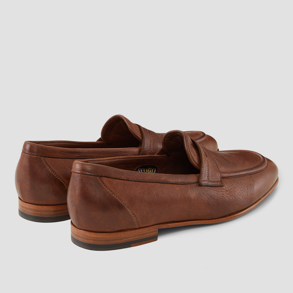Lucio Brown Penny Loafers