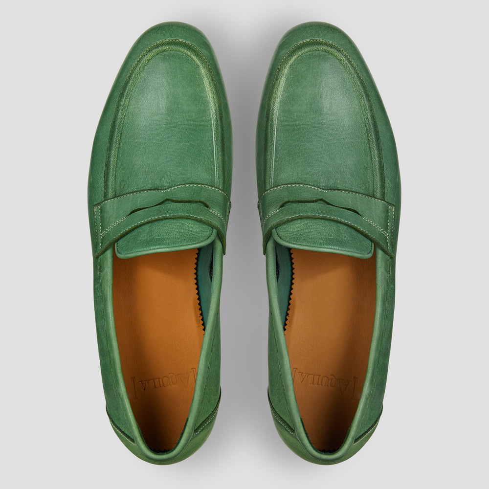 Lucio Mint Penny Loafers