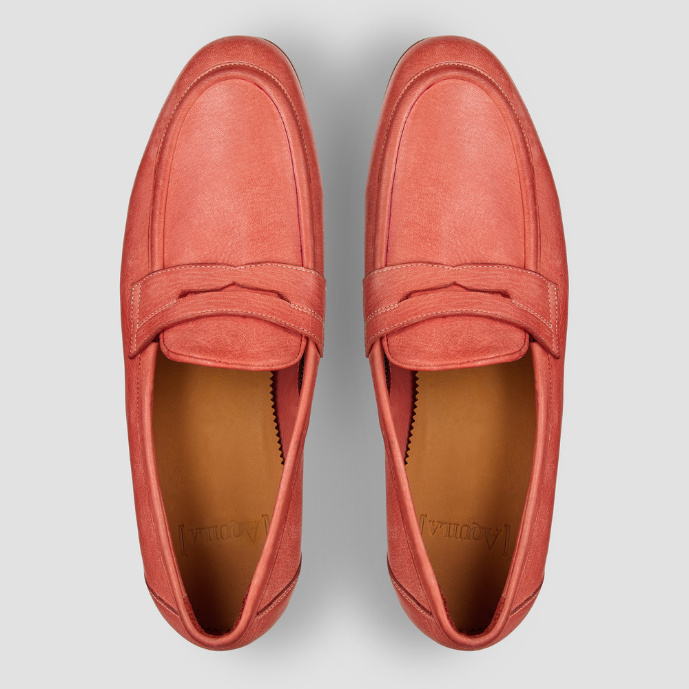 Lucio Watermelon Penny Loafers