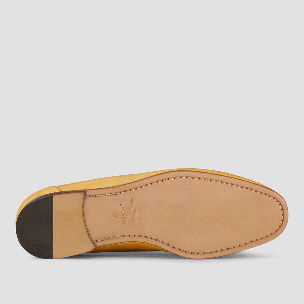 Lucio Yellow Penny Loafers