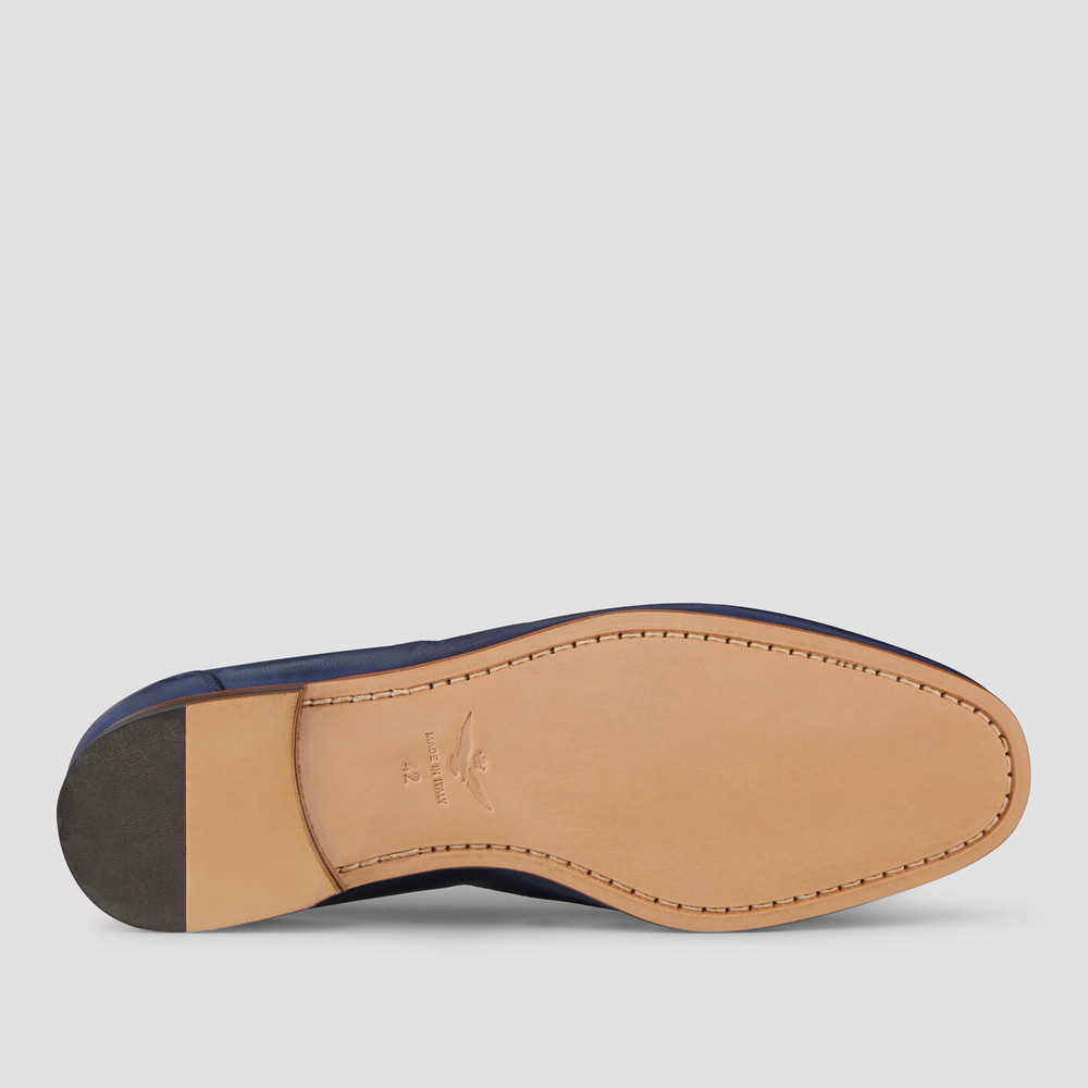 Lucio Blue Penny Loafers
