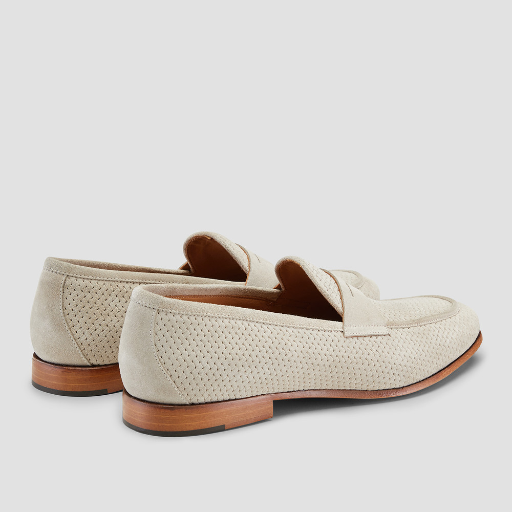 Lawry Cement Penny Loafers