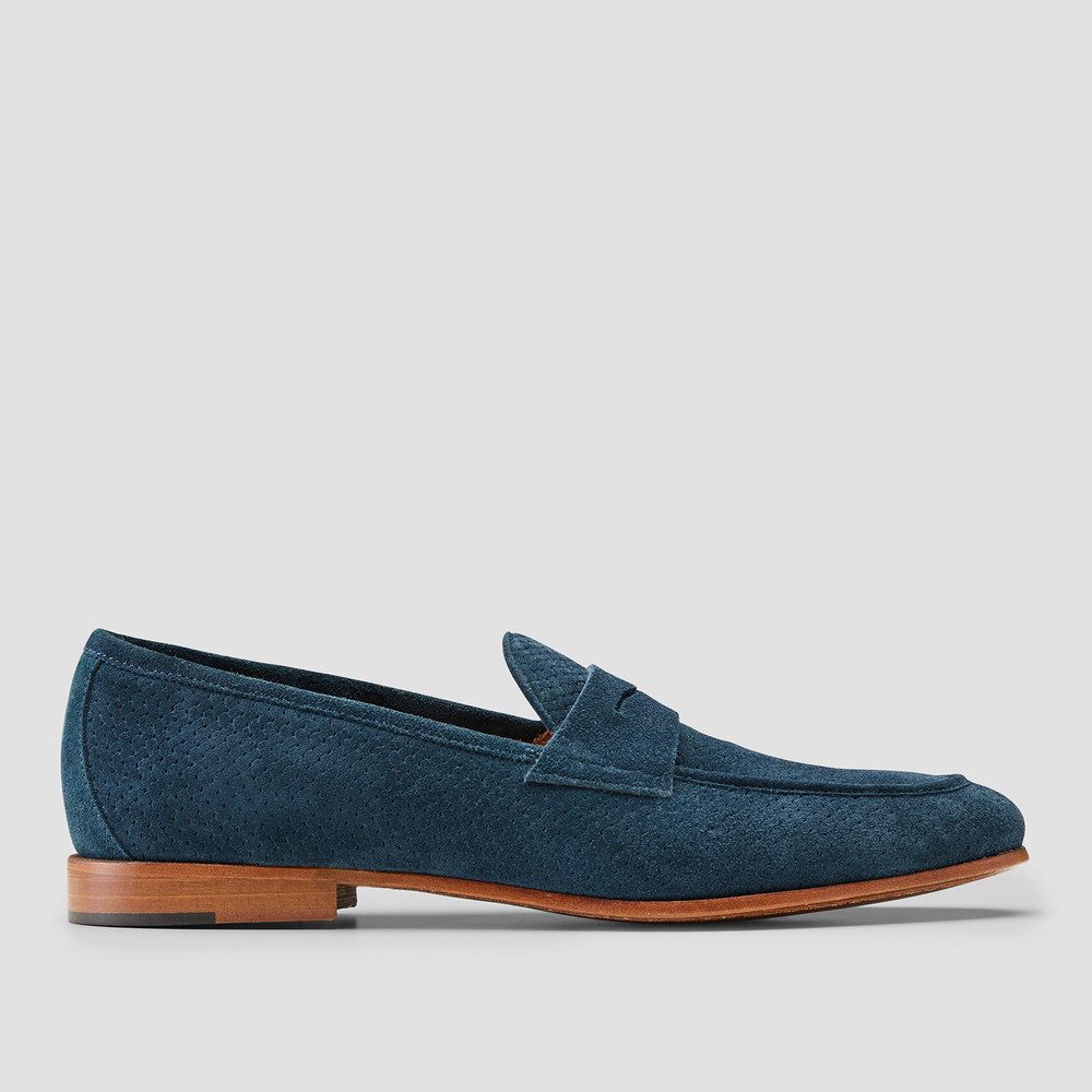 Lawry Steel Blue Penny Loafers