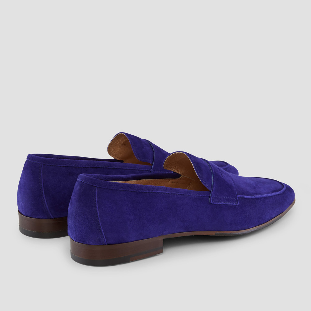 Matias Cobalt Penny Loafers